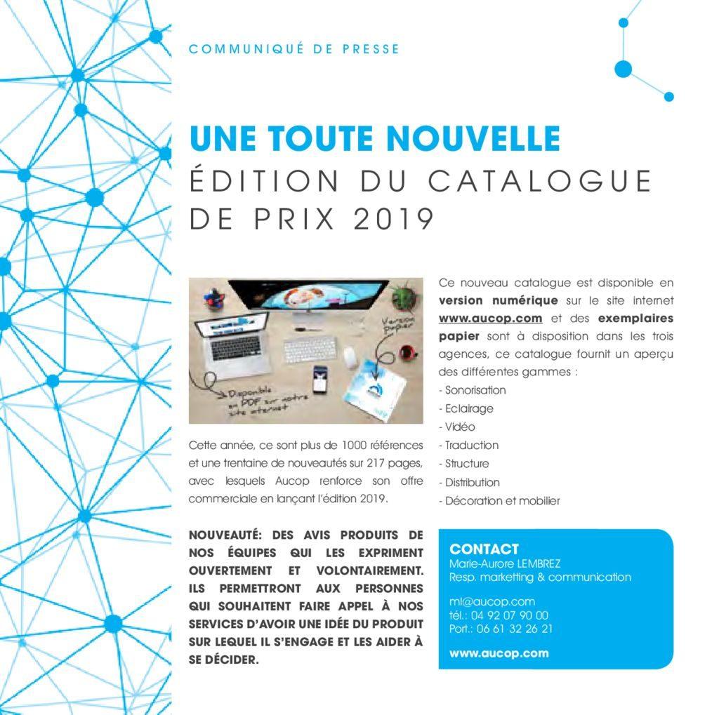 thumbnail of COMMUNIQUE DE PRESSE-NOUVEAU CATALOGUE-AUCOP